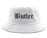 Butler Pennsylvania PA Old English Mens Bucket Hat White