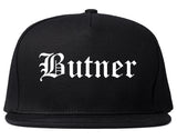 Butner North Carolina NC Old English Mens Snapback Hat Black