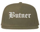 Butner North Carolina NC Old English Mens Snapback Hat Grey