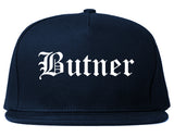 Butner North Carolina NC Old English Mens Snapback Hat Navy Blue