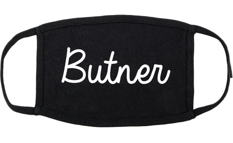 Butner North Carolina NC Script Cotton Face Mask Black