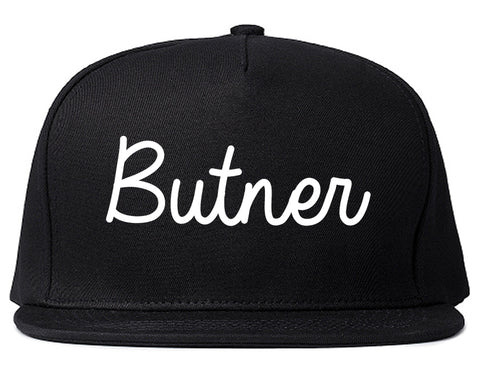 Butner North Carolina NC Script Mens Snapback Hat Black