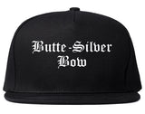 Butte Silver Bow Montana MT Old English Mens Snapback Hat Black