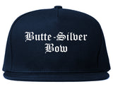 Butte Silver Bow Montana MT Old English Mens Snapback Hat Navy Blue
