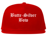 Butte Silver Bow Montana MT Old English Mens Snapback Hat Red