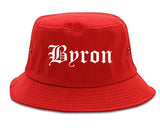 Byron Georgia GA Old English Mens Bucket Hat Red