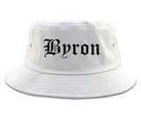 Byron Georgia GA Old English Mens Bucket Hat White