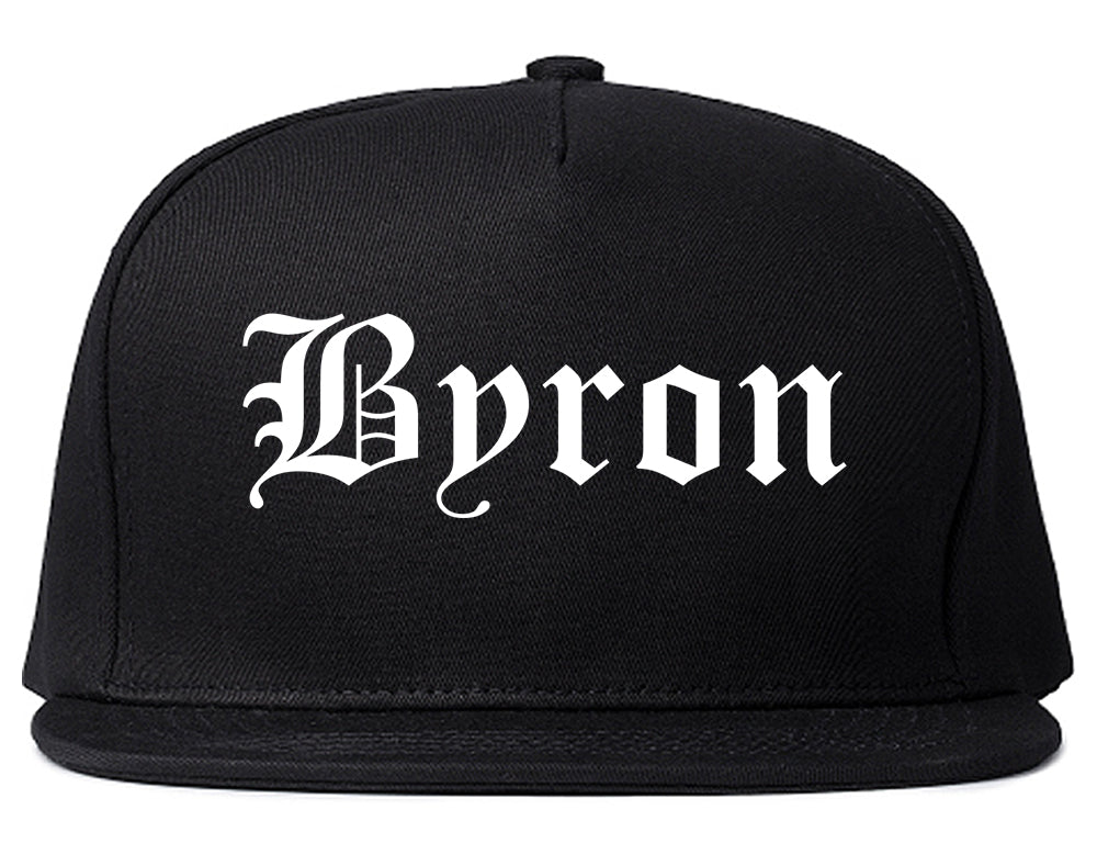 Byron Minnesota MN Old English Mens Snapback Hat Black