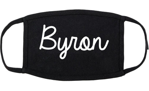 Byron Minnesota MN Script Cotton Face Mask Black