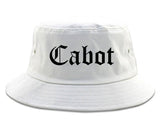 Cabot Arkansas AR Old English Mens Bucket Hat White