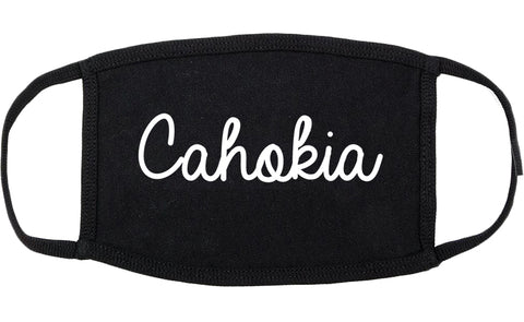 Cahokia Illinois IL Script Cotton Face Mask Black