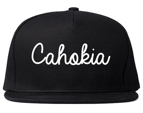 Cahokia Illinois IL Script Mens Snapback Hat Black