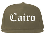 Cairo Georgia GA Old English Mens Snapback Hat Grey