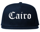 Cairo Georgia GA Old English Mens Snapback Hat Navy Blue