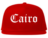 Cairo Georgia GA Old English Mens Snapback Hat Red