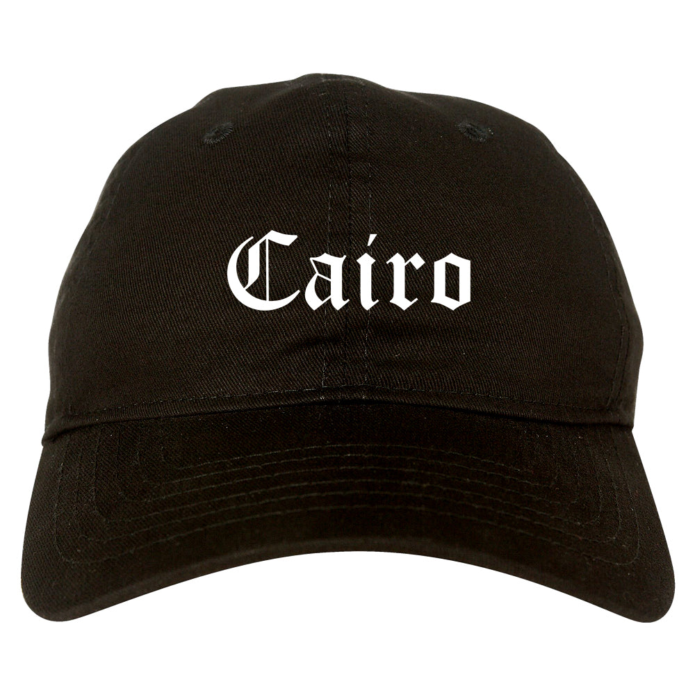 Cairo Georgia GA Old English Mens Dad Hat Baseball Cap Black
