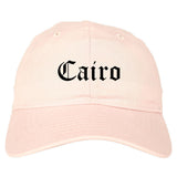 Cairo Georgia GA Old English Mens Dad Hat Baseball Cap Pink