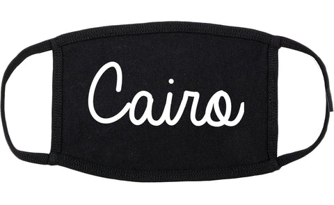 Cairo Georgia GA Script Cotton Face Mask Black