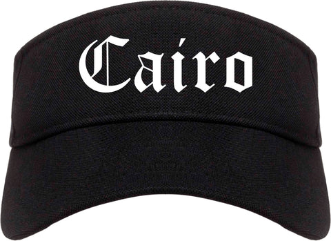 Cairo Georgia GA Old English Mens Visor Cap Hat Black