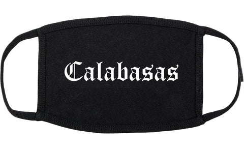 Calabasas California CA Old English Cotton Face Mask Black