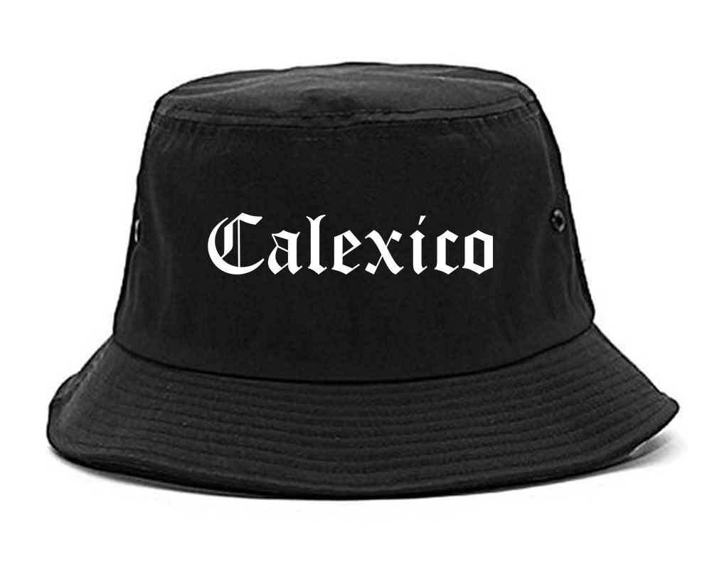 Calexico California CA Old English Mens Bucket Hat Black