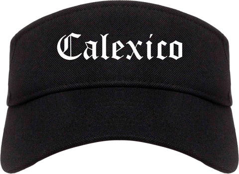 Calexico California CA Old English Mens Visor Cap Hat Black