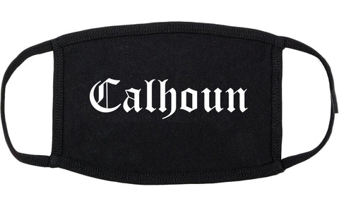 Calhoun Georgia GA Old English Cotton Face Mask Black