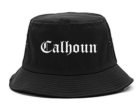Calhoun Georgia GA Old English Mens Bucket Hat Black