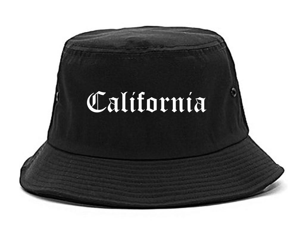 California Pennsylvania PA Old English Mens Bucket Hat Black