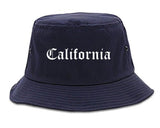California Pennsylvania PA Old English Mens Bucket Hat Navy Blue
