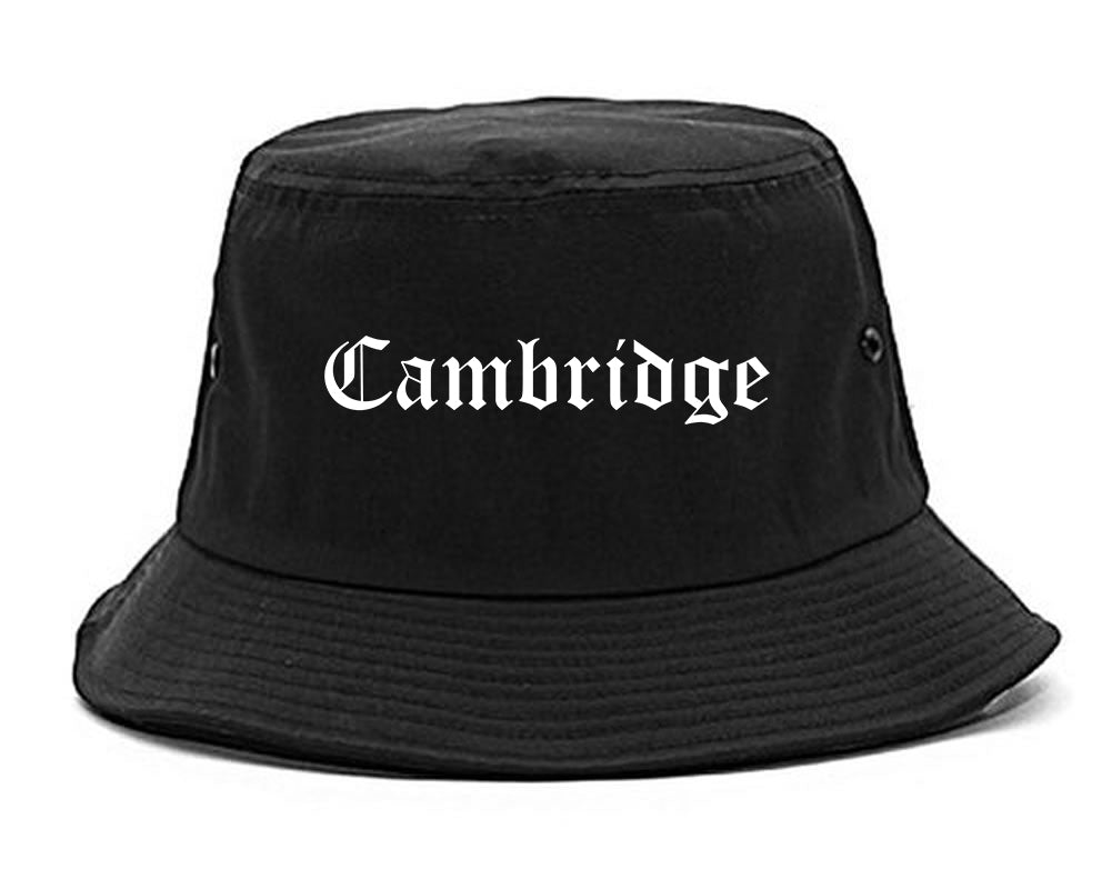 Cambridge Maryland MD Old English Mens Bucket Hat Black