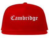Cambridge Ohio OH Old English Mens Snapback Hat Red