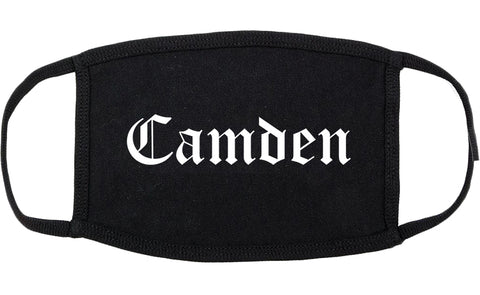 Camden New Jersey NJ Old English Cotton Face Mask Black
