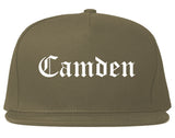 Camden New Jersey NJ Old English Mens Snapback Hat Grey