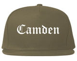 Camden South Carolina SC Old English Mens Snapback Hat Grey