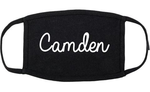 Camden South Carolina SC Script Cotton Face Mask Black
