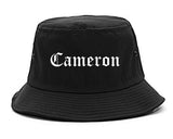 Cameron Texas TX Old English Mens Bucket Hat Black