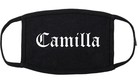 Camilla Georgia GA Old English Cotton Face Mask Black