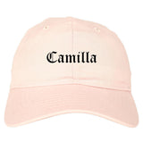 Camilla Georgia GA Old English Mens Dad Hat Baseball Cap Pink