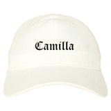 Camilla Georgia GA Old English Mens Dad Hat Baseball Cap White