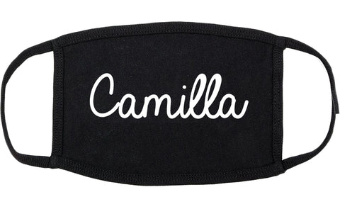 Camilla Georgia GA Script Cotton Face Mask Black