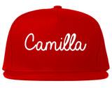 Camilla Georgia GA Script Mens Snapback Hat Red