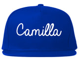 Camilla Georgia GA Script Mens Snapback Hat Royal Blue