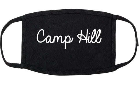 Camp Hill Pennsylvania PA Script Cotton Face Mask Black