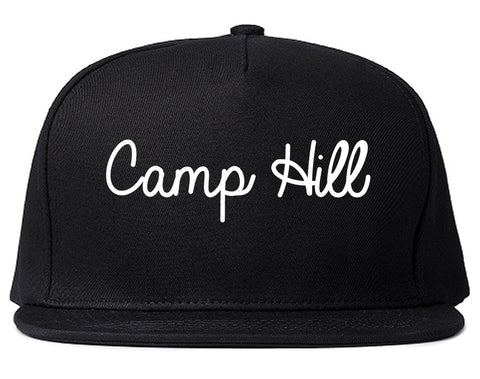 Camp Hill Pennsylvania PA Script Mens Snapback Hat Black