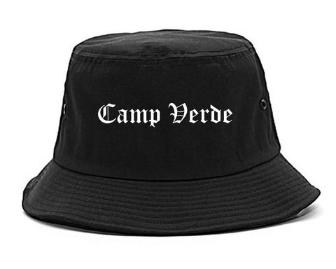 Camp Verde Arizona AZ Old English Mens Bucket Hat Black