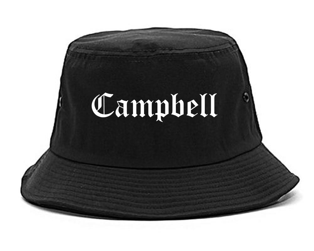 Campbell Ohio OH Old English Mens Bucket Hat Black
