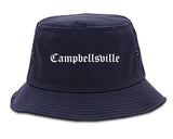 Campbellsville Kentucky KY Old English Mens Bucket Hat Navy Blue