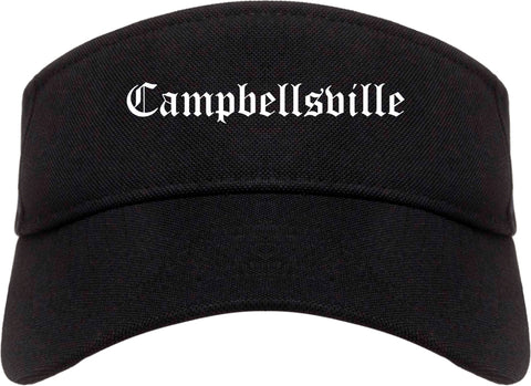 Campbellsville Kentucky KY Old English Mens Visor Cap Hat Black