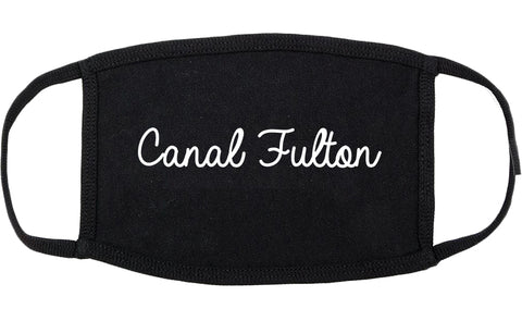Canal Fulton Ohio OH Script Cotton Face Mask Black